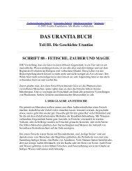 Das Urantia Buch - Schrift 88 - Fetische, Zauber und Magie