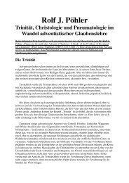 Trinität, Christologie und Pneumatologie im Wandel adv ...