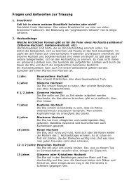 Fragen und Antworten zur Trauung (PDF-Datei)