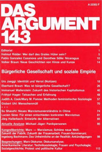 Bürgerliche Gesellschaft und soziale Empirie - Berliner Institut für ...