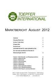 MARKTBERICHT AUGUST 2012 - Alfred C. Toepfer International ...