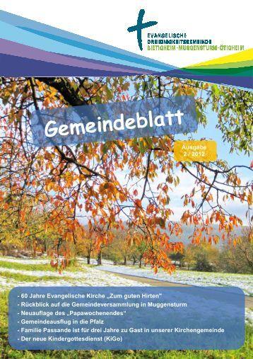 Ausgabe 2012-2 - Ev. Kirchengemeinde Bietigheim - Muggensturm