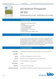 Technisches Datenblatt HD 502 - Bito AG