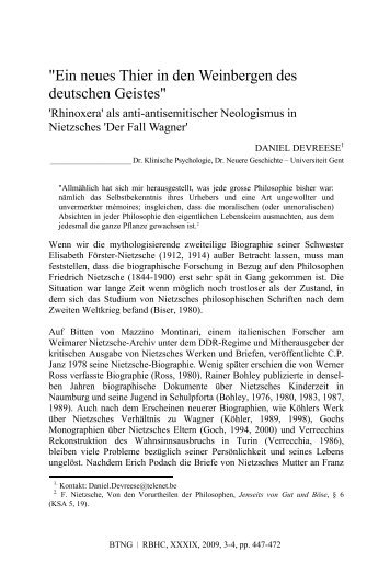 """""""Ein neues Thier in den Weinbergen des deutschen ... - BTNG · RBHC"""