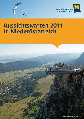 Aussichtswarten 2011 in Niederösterreich