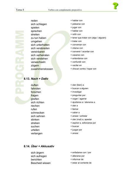 Tema 8 Verbos Con Complem
