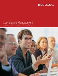 Compliance-Management - SAI Global
