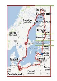 In 10 Tagen mit dem Motorrad um die Ostsee - ferienhaus ...