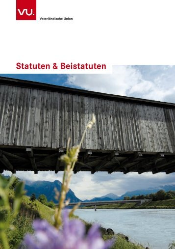 Statuten & Beistatuten - VU, Vaterländische Union