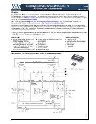 Anwendungshinweise zum DRV401