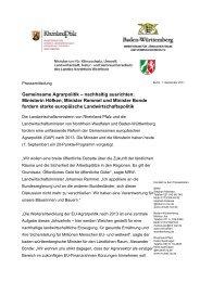 Gemeinsame Agrarpolitik – nachhaltig ausrichten - Infodienst ...