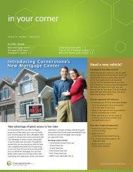 In Your Corner - Cornerstone Community Federal Credit Union