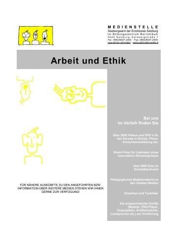 Arbeit und Ethik - Erzdiözese Salzburg