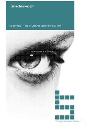 clarity - la nueva generación - Binder+Co AG