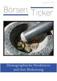 Demographische Strukturen und ihre Bedeutung - Börsen-Team