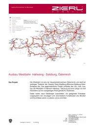 Ausbau Westbahn Hallwang - Salzburg, Österreich
