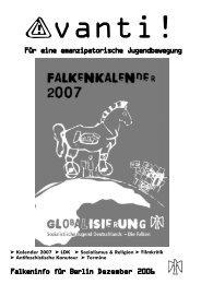 Für eine emanzipatorische Jugendbewegung ... - Falken Berlin