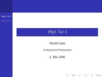 LaTeX Teil 3 - Wissenschaftliche Texte mit LaTeX