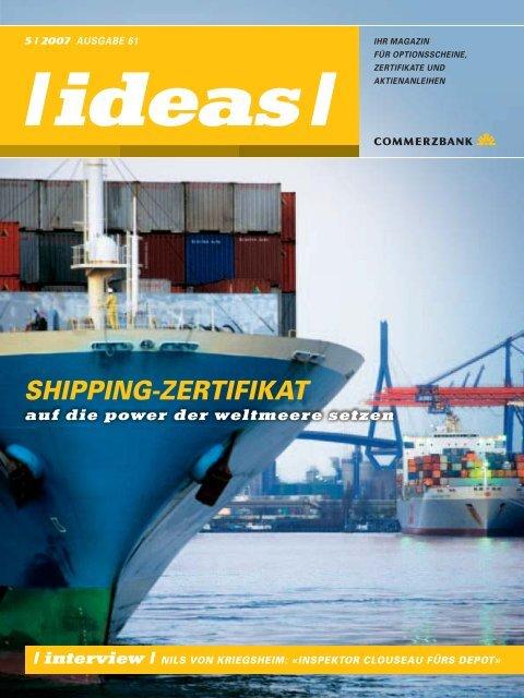 SHIPPING-ZERTIFIKAT - Commerzbank - Commerzbank AG