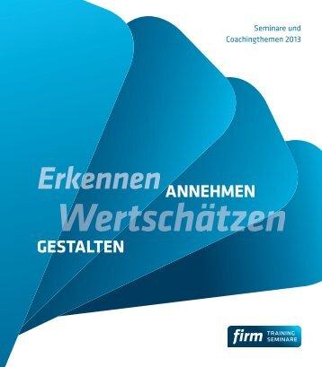 DOWNLOAD Broschüre für 2013 mit allen Themen ... - Firm-leipzig.de