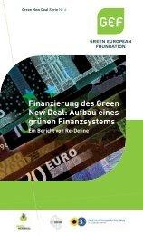 Finanzierung des Green New Deal: Aufbau eines grünen ... - GEF