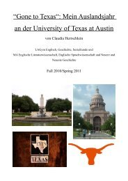 """Gone to Texas"": Mein Auslandsjahr an der University ... - International"