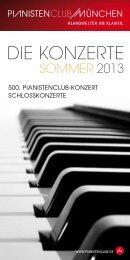 Programm Sommer 2013