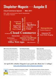 Shopleiter-Magazin - Cloud Commerce Conference