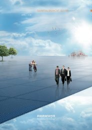 Quartalsbericht II/2009 - Sunways AG