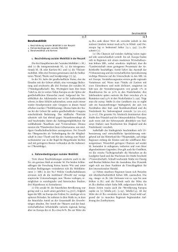 Berufsmobilität 1. Beschränkung sozialer Mobilität in der Neuzeit ...