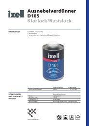 Ausnebelverdünner D165 Klarlack/Basislack