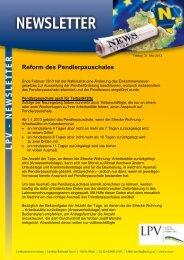 Reform des Pendlerpauschales - LPV