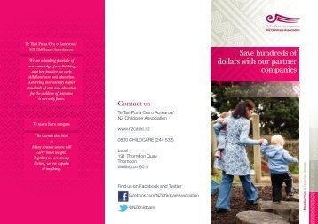Discount scheme providers brochure - NZ Childcare Association