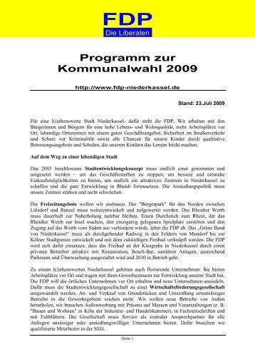 wahlprogramm 2009 - FDP Niederkassel