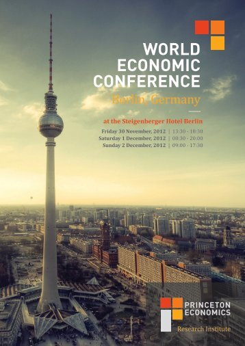 World Economic confErEncE - Armstrong Economics