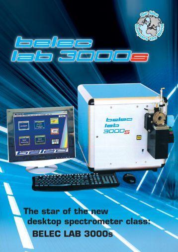 The star of the new desktop spectrometer class: BELEC ... - belec.de