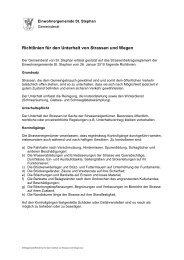 Richtlinien für den Unterhalt von Strassen und Wegen