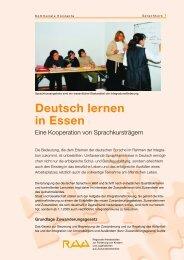 Deutsch lernen in Essen - RAA NRW