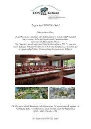 Tagen im CONTEL Hotel - CONTEL Koblenz