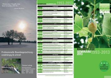 Baumpflegeseminarprogramm 2013 - Ausbilden direkt am Baum