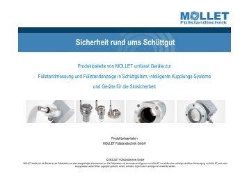 Sicherheit rund ums Schüttgut - MOLLET Füllstandtechnik GmbH