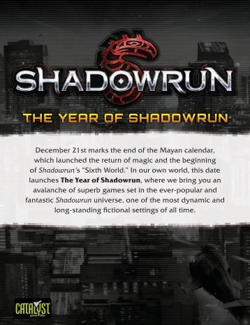 The Year of Shadowrun.pdf - Catalyst Game Labs