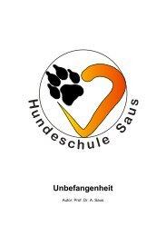 Unbefangenheitsübungen - Hundeschule Saus