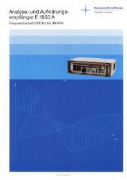 Analyse- und Aufklärungs- empfänger E1800 A - Ratzer