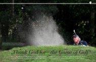 Thank God for the Game of Golf - Bernhard Langer