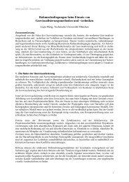 Rahmenbedingungen beim Einsatz von - Geovisualisierung