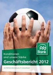 Geschäftsbericht 2012 der PSD Bank Nürnberg eG