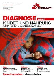 DIAGNOSE 4/2010 - Ärzte ohne Grenzen