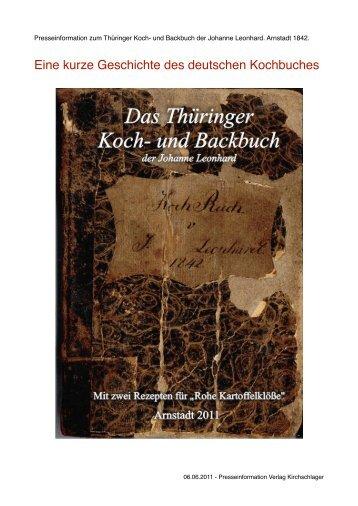 Eine kurze Geschichte des deutschen Kochbuches - Verlag ...