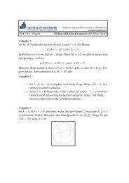 Prof. Dr. J. Hilgert: Nichteuklidische Geometrie (SS 2004), Blatt 5 ...